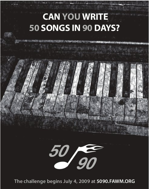Can you write 50 songs in 90 days?