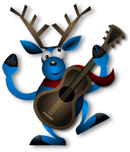 reindeer with guitar